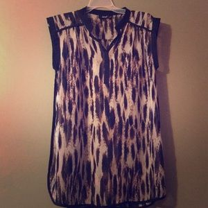Animal print tunic by a.n.a. Size M